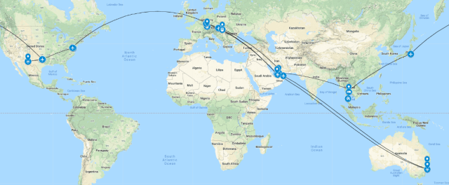 around the world in 88 days Not a pedestrian life Anna Rabe