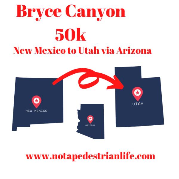 From New Mexico to Utah via Arizona: heading to Bryce Canyon 50k