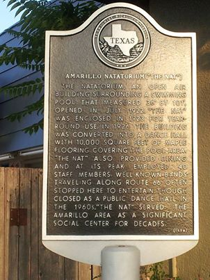 Historic route 66 The Nat marker