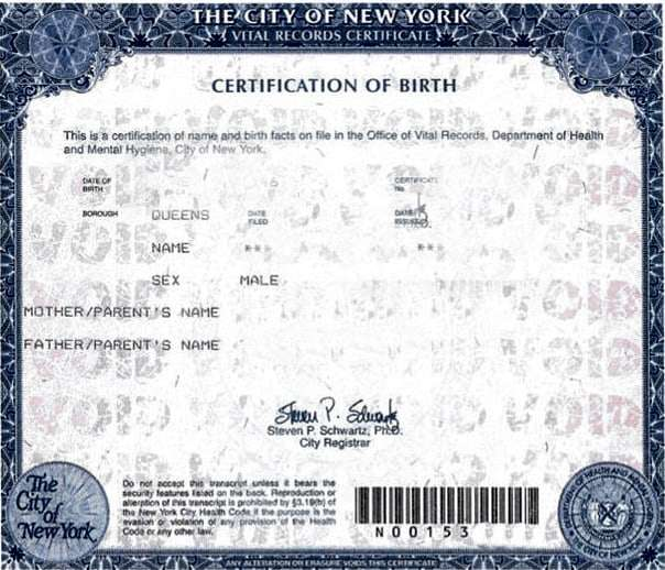 Nyc Birth Certificate Apostille Same Day Availability In Nyc