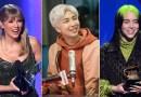 Taylor Swift, BTS y Billie Eilish, entre los artistas que actuarán en los Grammy 2021