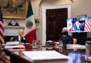 Biden reafirma la relación de EE.UU. con México en reunión virtual con López Obrador