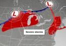 Los vientos dañinos amenazan a más de 90 millones de personas en el medio oeste y el noreste de Estados Unidos