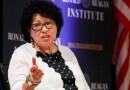 Magistrada Sonia Sotomayor: «Habrá mucha decepción sobre la ley, una enorme cantidad»