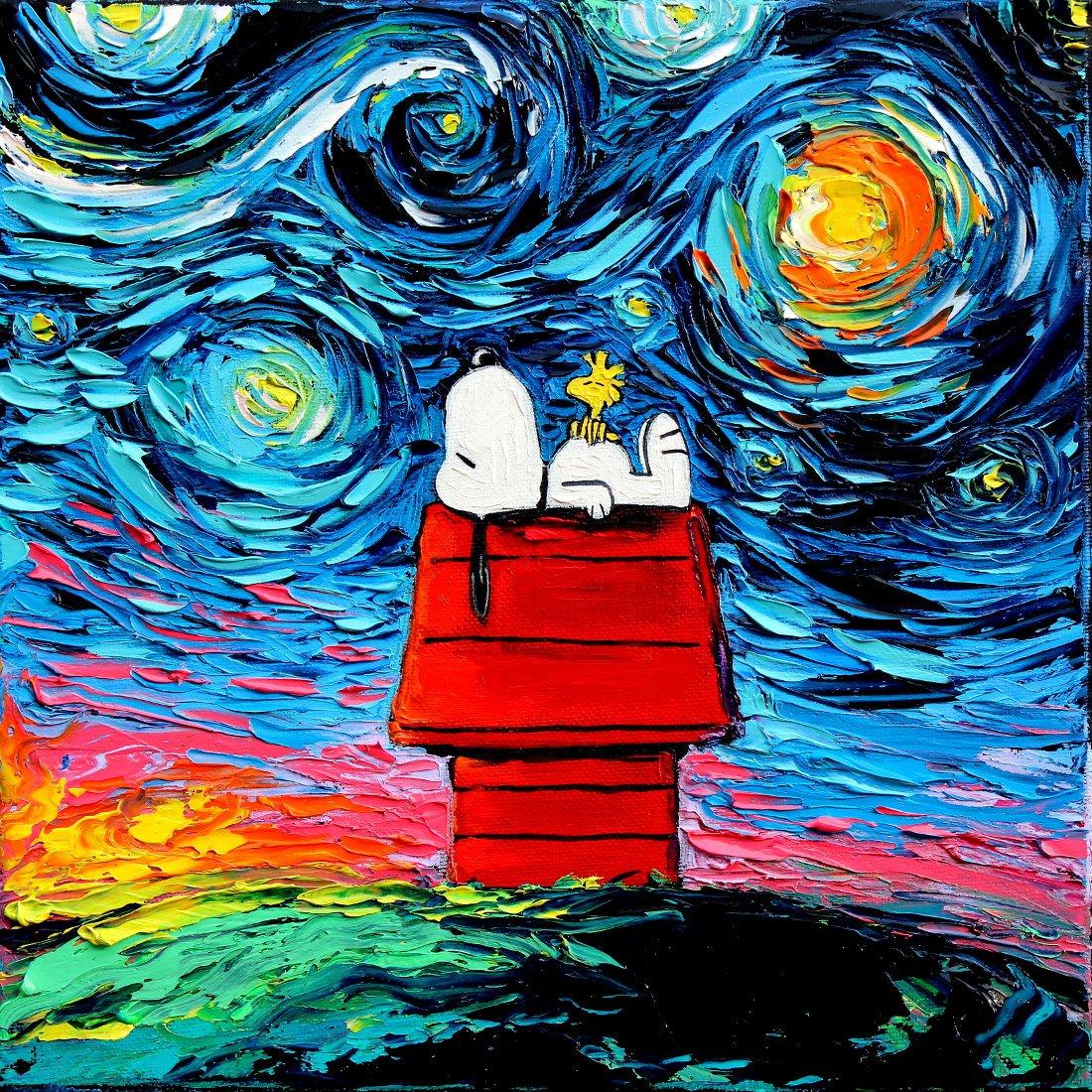 Pinturas incríveis misturam a cultura pop com os principais quadros de Van Gogh