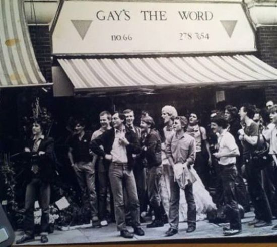 Gays the Word bookshop, London, in the early 1980s.