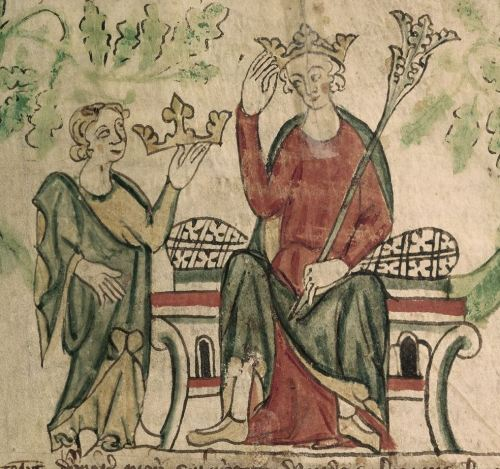 Edward II enthroned (Image: BL Royal 20 A II)