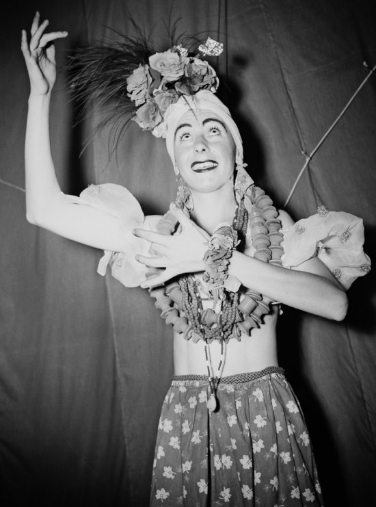Private Maurice Earley as Carmen Miranda