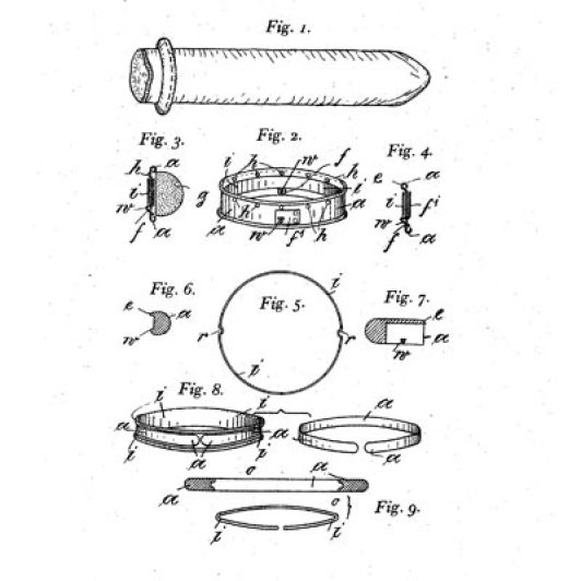 German condom patent design 1910, courtesy of Museum of Contraception and Abortion