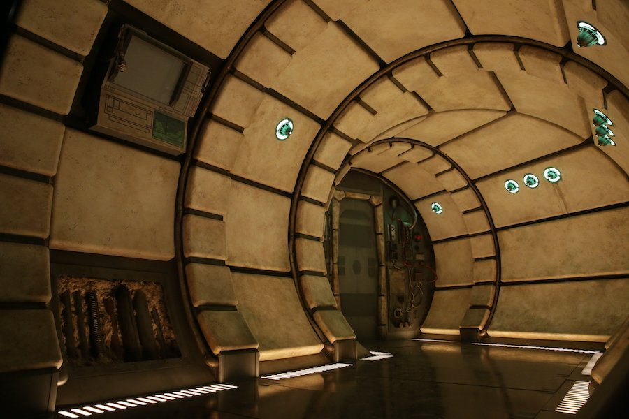 Is This the Inside of a Star Wars Galaxy's Edge Ride Building?
