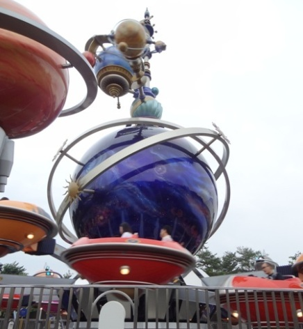 Orbitron ride at Disneyland Hong Kong