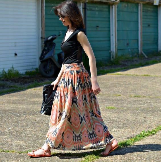 AllSaints-Ikat-maxi-skirt-fashion-over-40