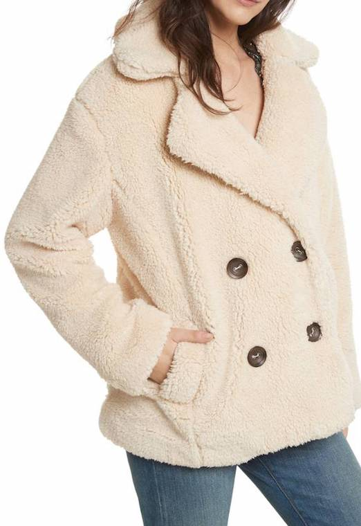 This cute snuggly jacket is perfect layered over a turtleneck.
