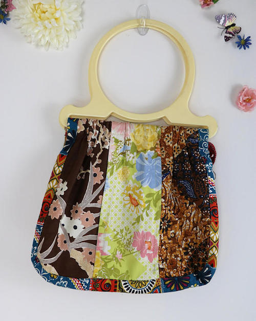 And here's an authentic 1970's Boho fabric bag in a groovy patchwork, love it.