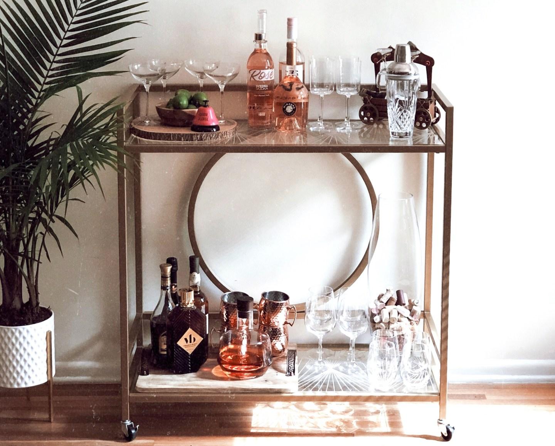   Get the look- My bar cart  
