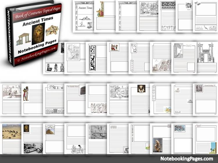 Ancient Times History Notebooking Pages