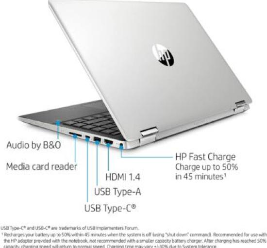 Budget 2 in 1 Laptop - HP Pavilion x360 14-dh2011nr - notebookinsight.com