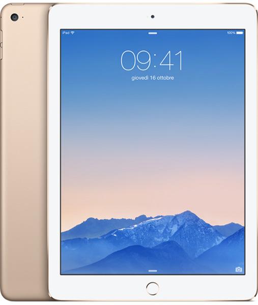 Apple iPad Air nella versione gold. Il telaio è in alluminio anodizzato