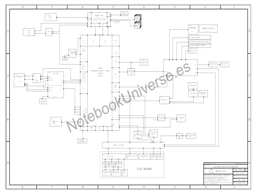 Apple Macbook Air A Schematic 820 A Apple J11