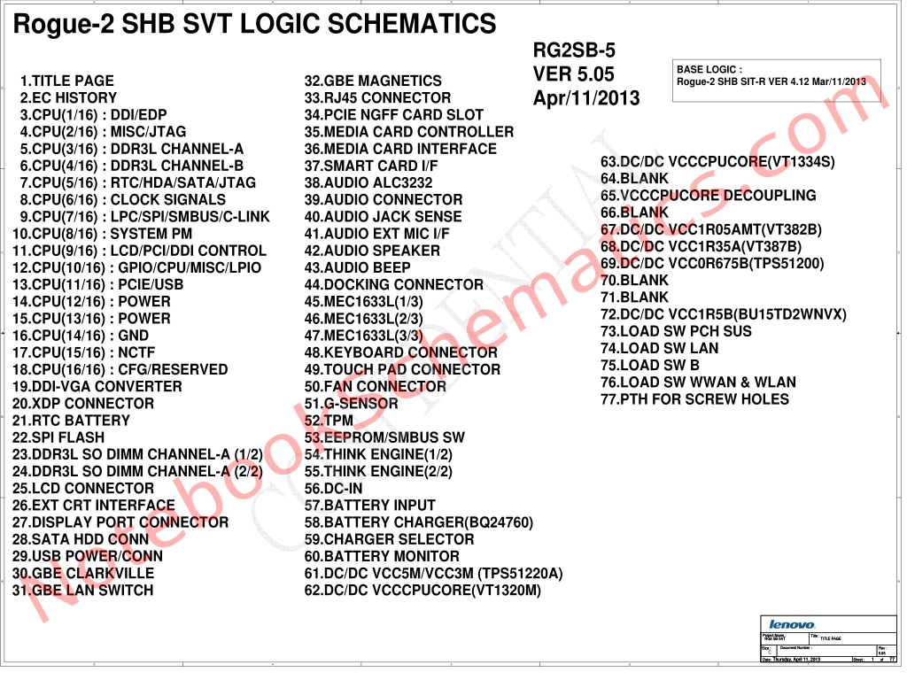 Lenovo Thinkpad X240 Schematic Rogue 2 Shb Svt Logic
