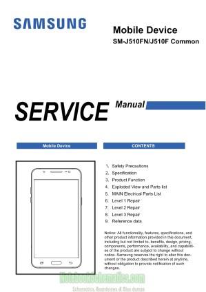 Samsung Galaxy J5 2016 Service Manual – SMJ510F  SMJ510FN Service Manual   NotebookSchematics