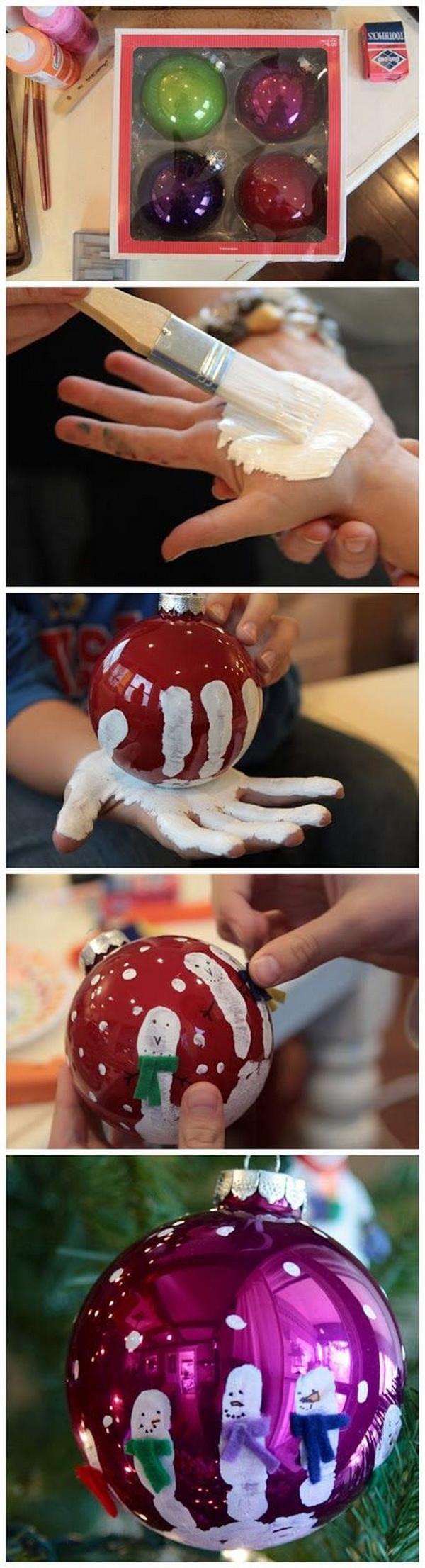 DIY Hand-Printed Ornaments