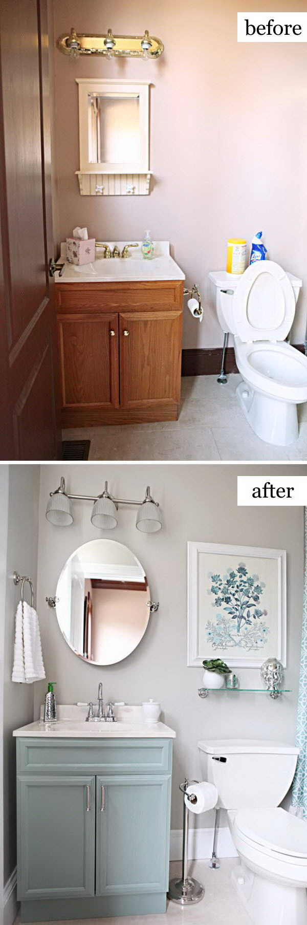 Before and After Makeovers: 20+ Most Beautiful Bathroom ... on Bathroom Renovation Ideas  id=65214