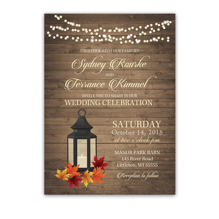 Autumn Bridal Shower Invitations