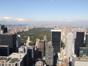 Vista de Central Park de Nueva York desde el Top of the Rock