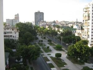Vista del barrio de Vedado