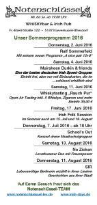 Flyer Sommer 2016