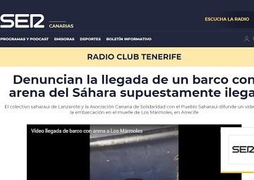Denuncian la llegada de un barco con arena del Sáhara Occidental — Poemario por un Sahara Libre