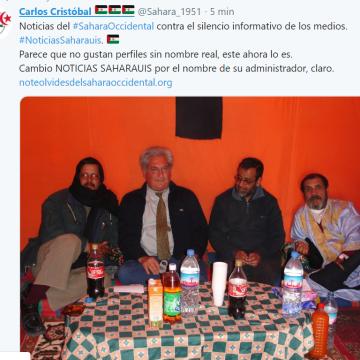 Carlos Cristóbal  🇪🇭 🇪🇭 🇪🇭    @Sahara_1951 ¡Estamos en twitter!