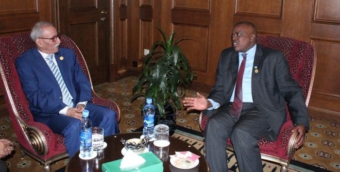 El presidente Brahim Ghali se reúne en Addis Abeba con varios jefes de Estado y de gobierno africanos   Sahara Press Service
