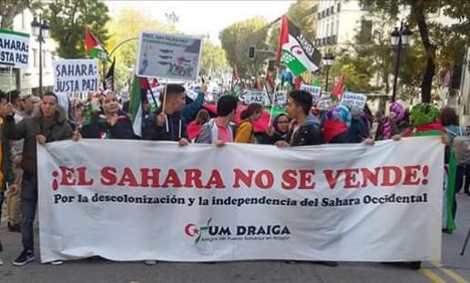 """Um Draiga participa en la manifestación estatal por un """"Sáhara Libre 2018″ – Um Draiga"""