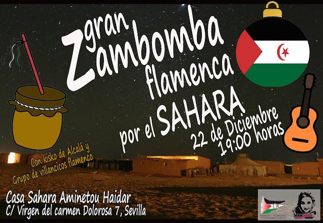 GRAN ZAMBOMBA FLAMENCA POR EL SAHARA EL 22 DE DICIEMBRE EN CASA SAHARA — Sahara Sevilla