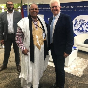 Sahrawi Ambassador holds discussions with Western Cape Provincial Minister of Community Safety | Sahara Press Service