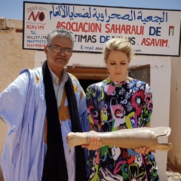 Participation in Sahara Marathon message of solidarity with Saharawi people and their just cause (Catherine Constantinides) | Sahara Press Service