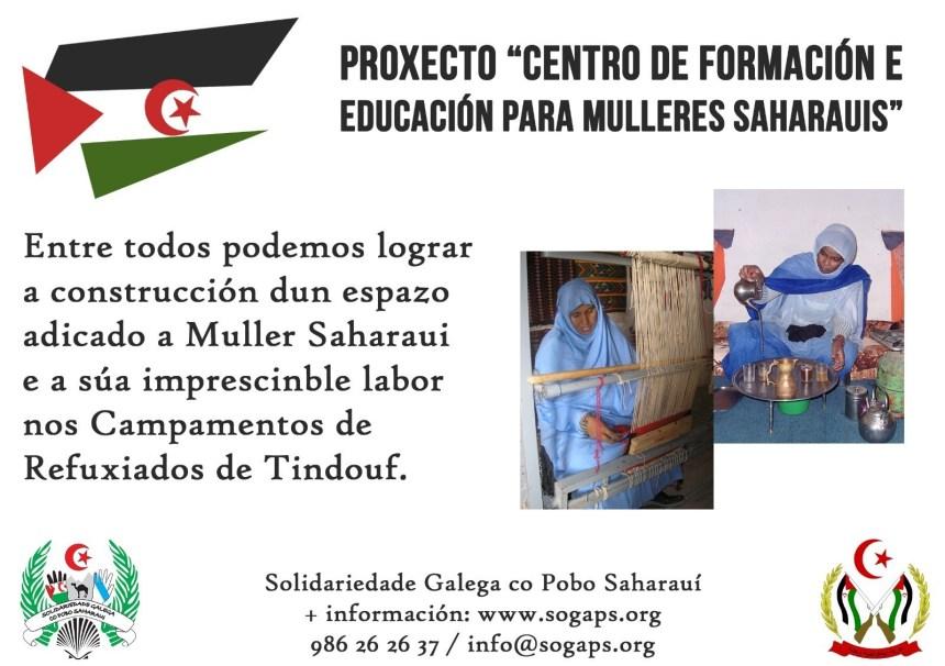 """PROYECTO """"Centro de Estudios y Formación de la Mujer Saharaui"""" – Solidariedade Galega co Pobo Saharaui"""