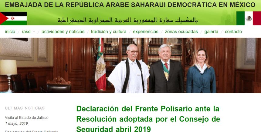 Declaración del Frente Polisario ante la Resolución adoptada por el Consejo de Seguridad abril 2019 – Embajada de la República Árabe Saharaui Democrática en México