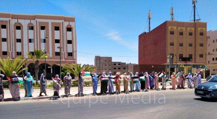 Equipe Media: Hoy 18 de junio de 2019 se llevó a cabo una manifestación en El Aaiún ocupado, organizada por varias mujeres para conmemorar el levantamiento de 1970 en Zemla