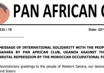 Pan African Club expresses solidarity with the Saharawi people and condemns Moroccan repression and occupation | Sahara Press Service