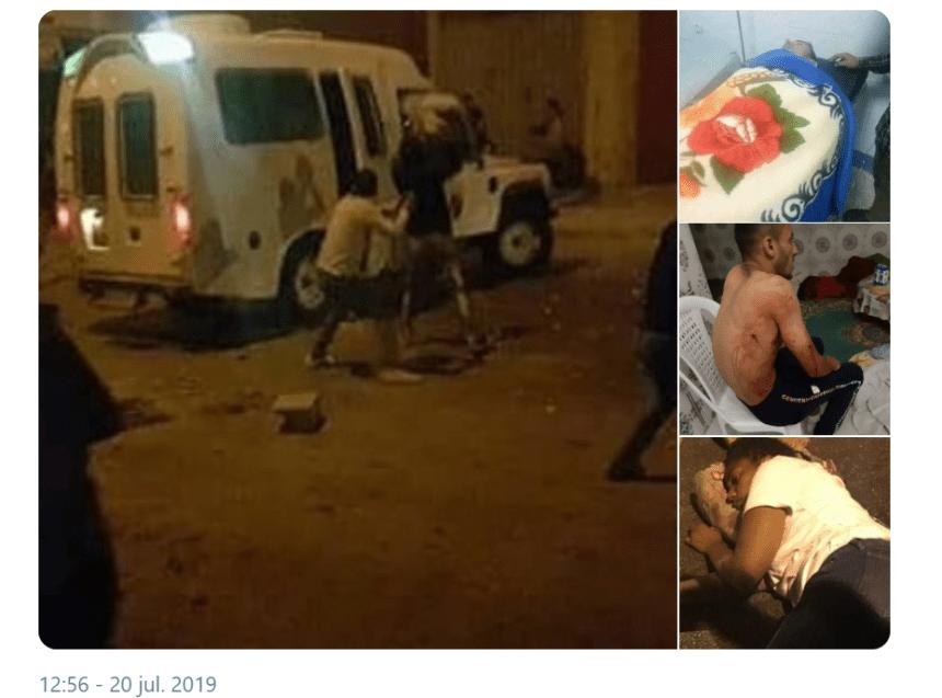 Las fuerzas de ocupación marroquís reprimen saharauis en la calles de El Aaiun Ocupado – Resultado: muchos heridos y una muerte.