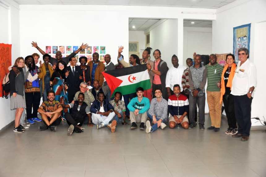 """INAUGURACIÓN DE LA EXPOSICIÓN """"AFROTÓPICOS"""" Y PRESENTACIÓN DEL FESTIVAL ARTIFARITI  EN MOZAMBIQUE A CARGO DEL EMBAJADOR SAHARAUI"""