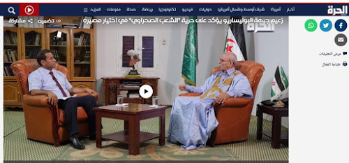 Brahim Ghali con el Canal de EE UU Al Hurra | DIARIO LA REALIDAD SAHARAUI