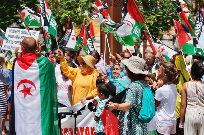 Manifestación ante el Consulado de Marruecos en Algeciras | Sahara Press Service