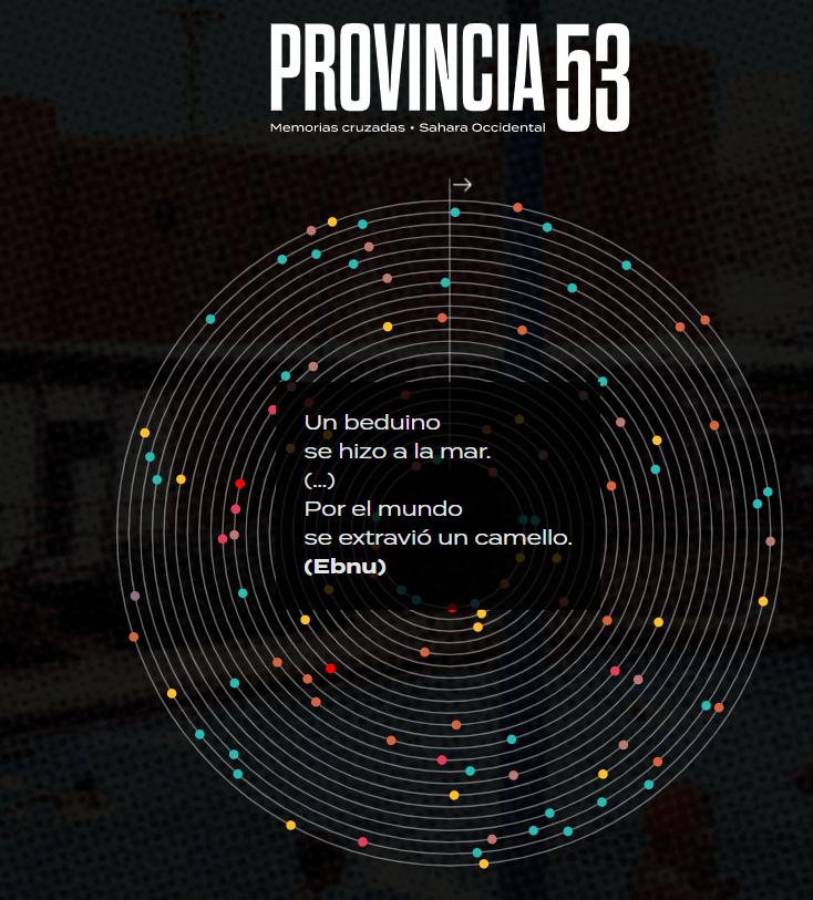 Provincia _53: ¿sabías que la página web está repleta de poesía saharaui?