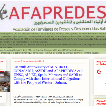 AFAPREDESA: On 28th Anniversary of MINURSO, CONASADH, ASVDH and AFAPREDESA call UNSC, AU, EU, Spain, Morocco and SADR to Comply with their International Obligations with the People of Western Sahara.