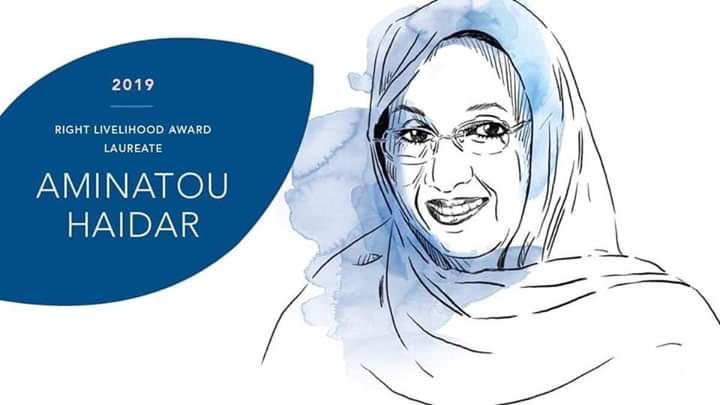 Aminatou Haidar 🇪🇭 : Este Ilustre Premio es un reconocimiento a la lucha no violenta y civilizada del Pueblo del Sahara Occidental por la libertad y independencia