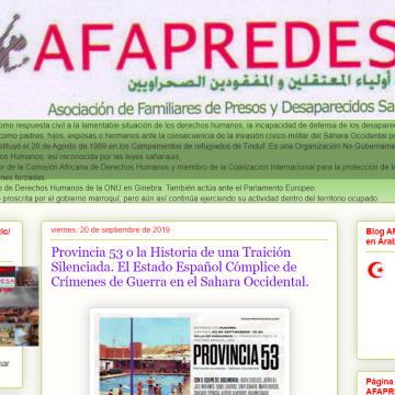 AFAPREDESA: Provincia 53. El Estado Español Cómplice de Crímenes de Guerra en el Sahara Occidental.